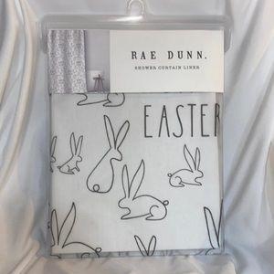 Rae Dunn Shower Curtain Spring Easter Bunny